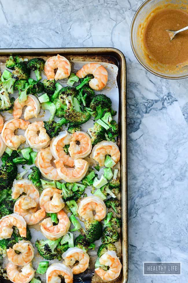 Broiled Shrimp and Broccoli with Spicy Cashew Sauce