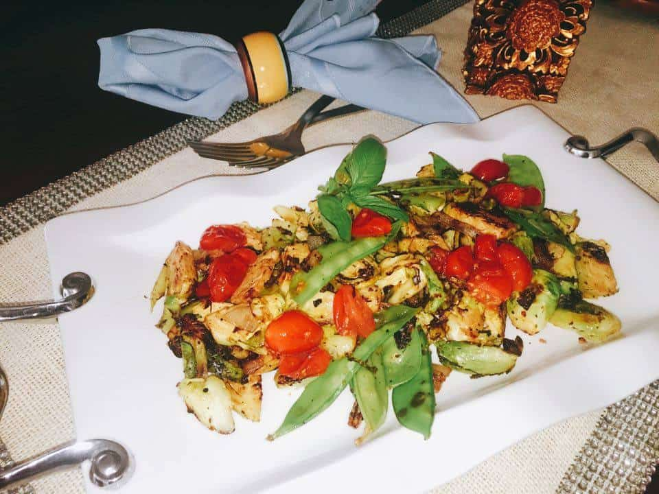 Brussels Sprouts grilled veggies