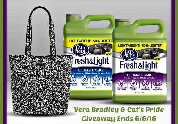 Win A Huge Prize for Your Cat: Cat's Pride Litter + Vera Bradley Camocat Tote