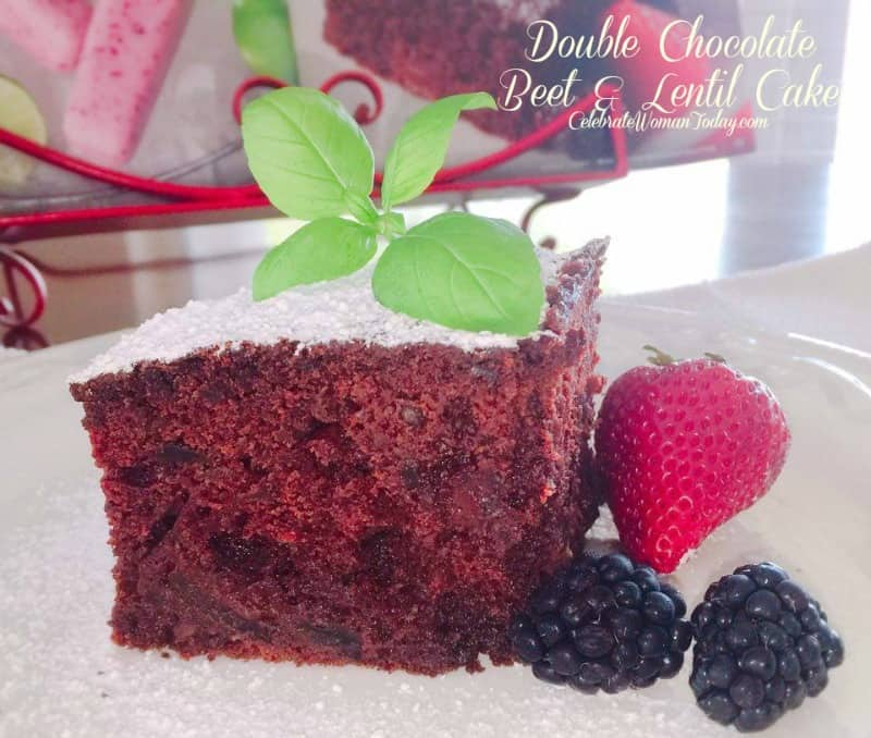 Double Chocolate beet and lentil cake