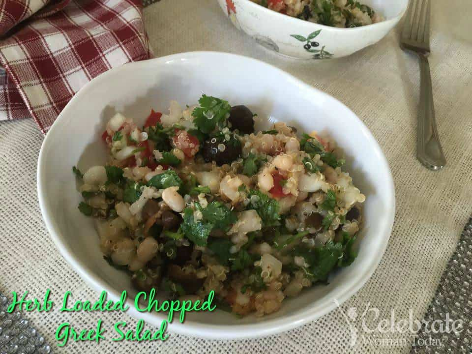 Herb Loaded Chopped Greek Salad
