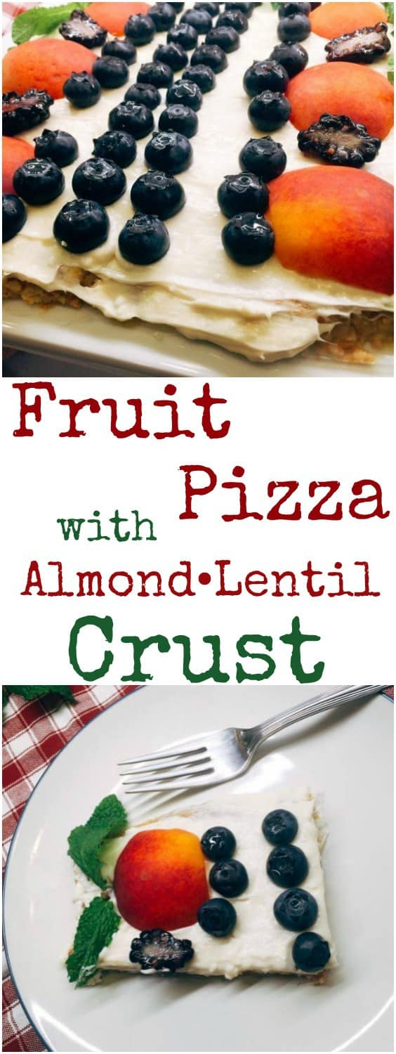 Fruit Pizza with Almond Lentils Crust Recipe