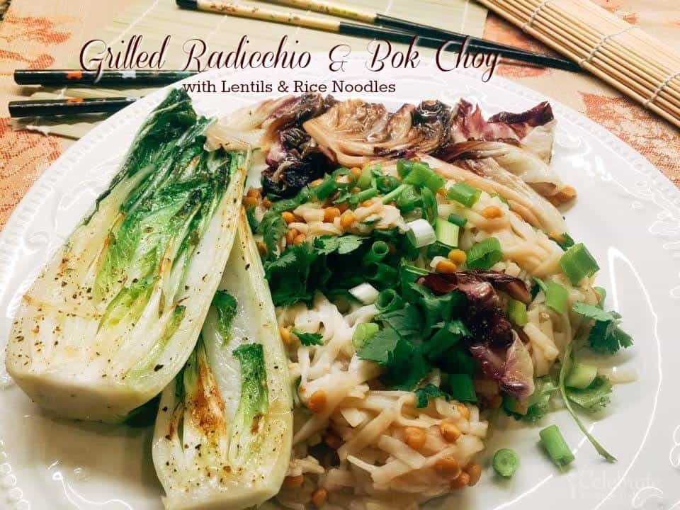 radicchio, bok choy, salad recipe, lentils