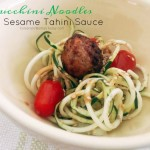 Raw & Delicious. Zucchini Noodles With Sesame Tahini Sauce