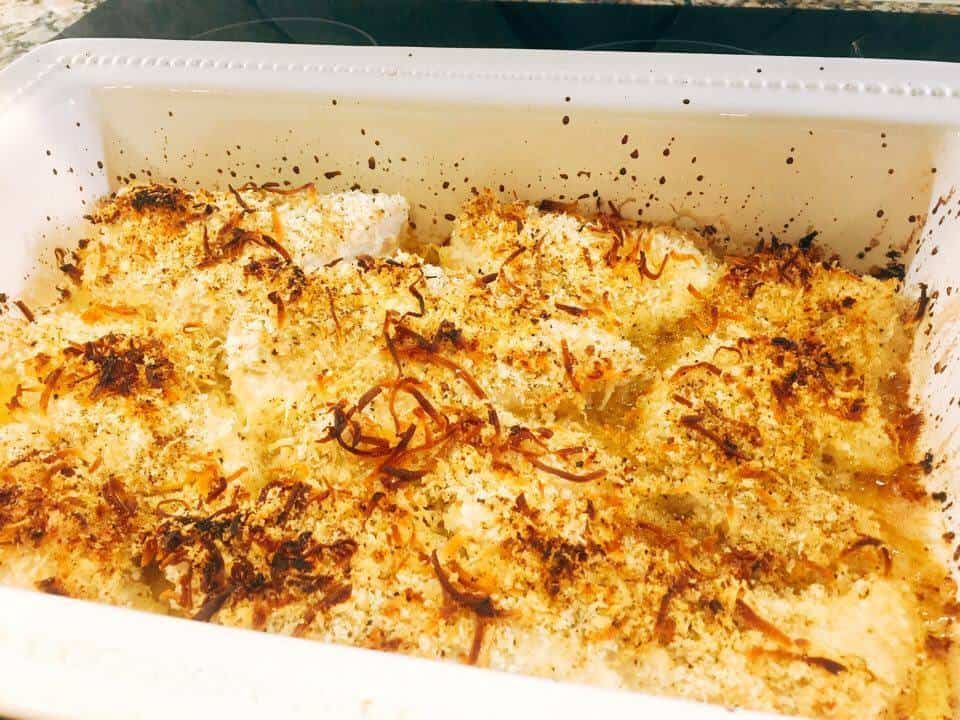 Corvina fish baked in a coconut crust for Corvina fish recipes