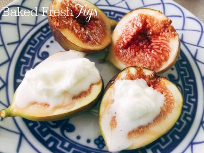 baked figs, easy dessert recipe