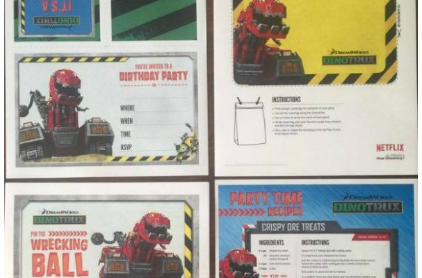 DINOTRUX Birthday Party Printables Party Kit – Celebrate It!