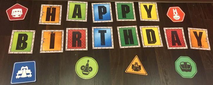 Dinotrux Happy Birthday sign