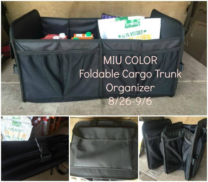 Enter the MIU COLOR Foldable Cargo Trunk Organizer Giveaway. End 9/6