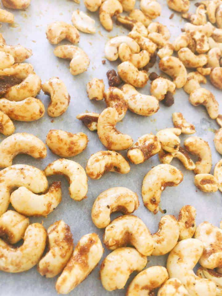 Roasted Cashews in Thai Curry recipe