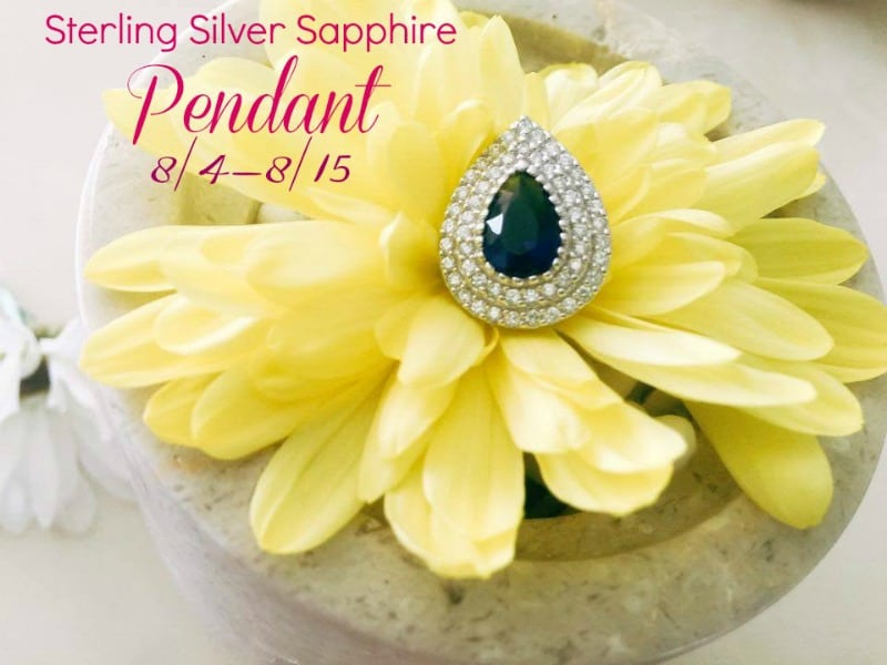 Enter the  Sterling Silver Sapphire PENDANT Giveaway. Ends 8/15
