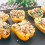 Roasted Bell Peppers Stuffed With Riced Cauliflower Filling