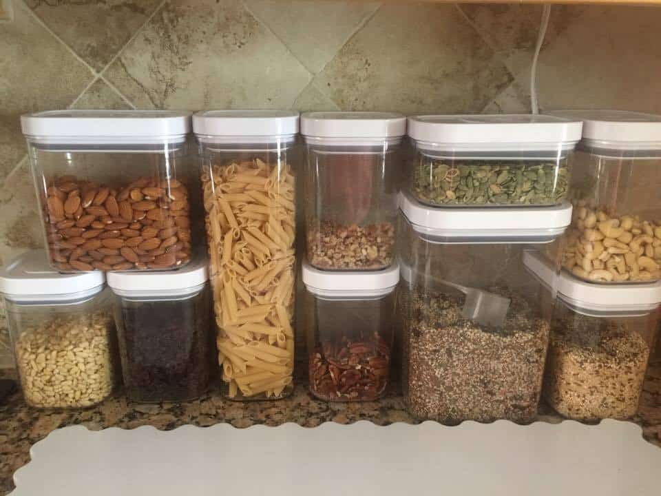 nuts for kitchen counter, healthy snacks
