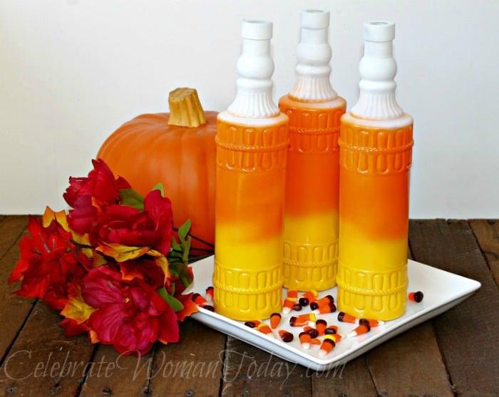 Candy Corn Wine Bottles Craft