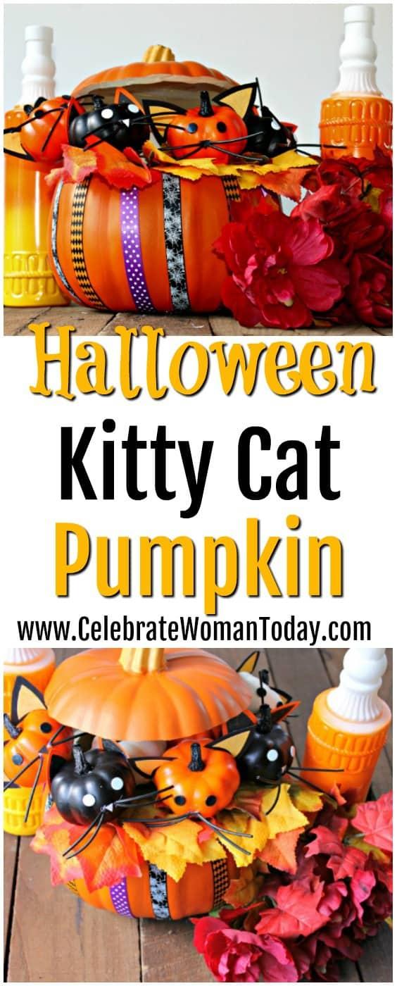 Halloween Kitty Cat Pumpkin Craft