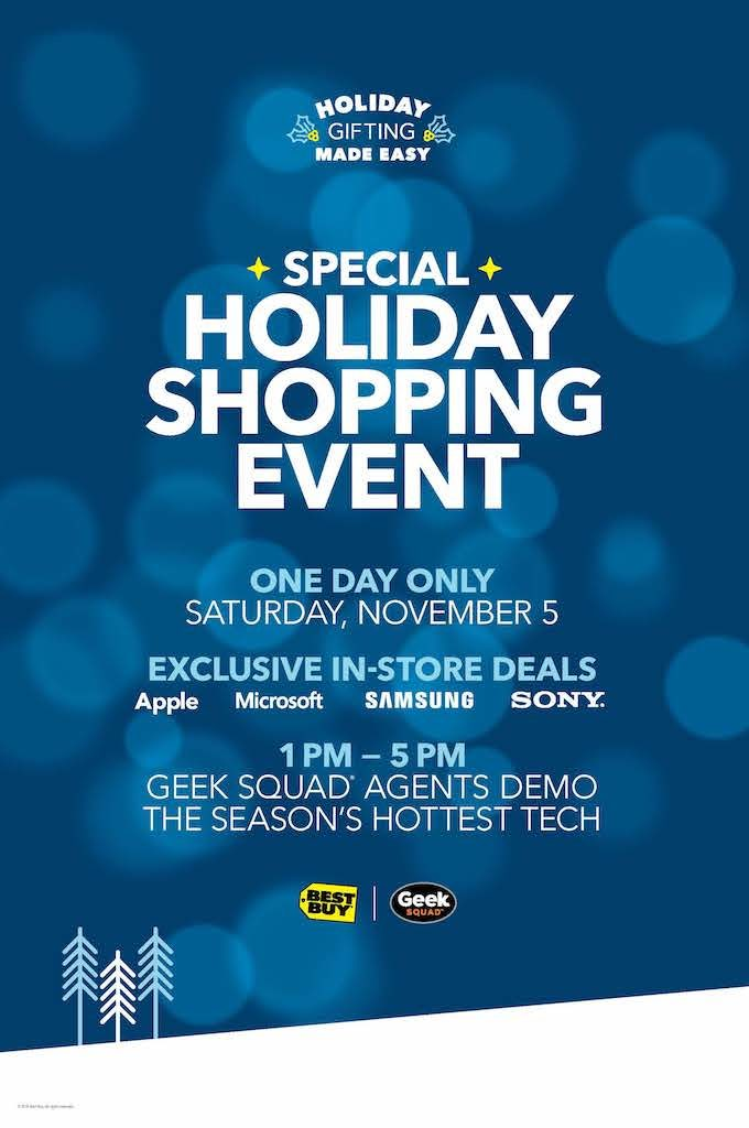 Best Buy in store holiday shopping event