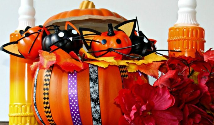 Halloween Kitty Cat Pumpkin Craft