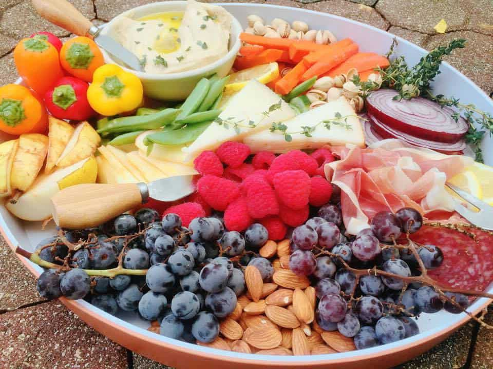 Salad And Cheese Platter, Feast On A Platter