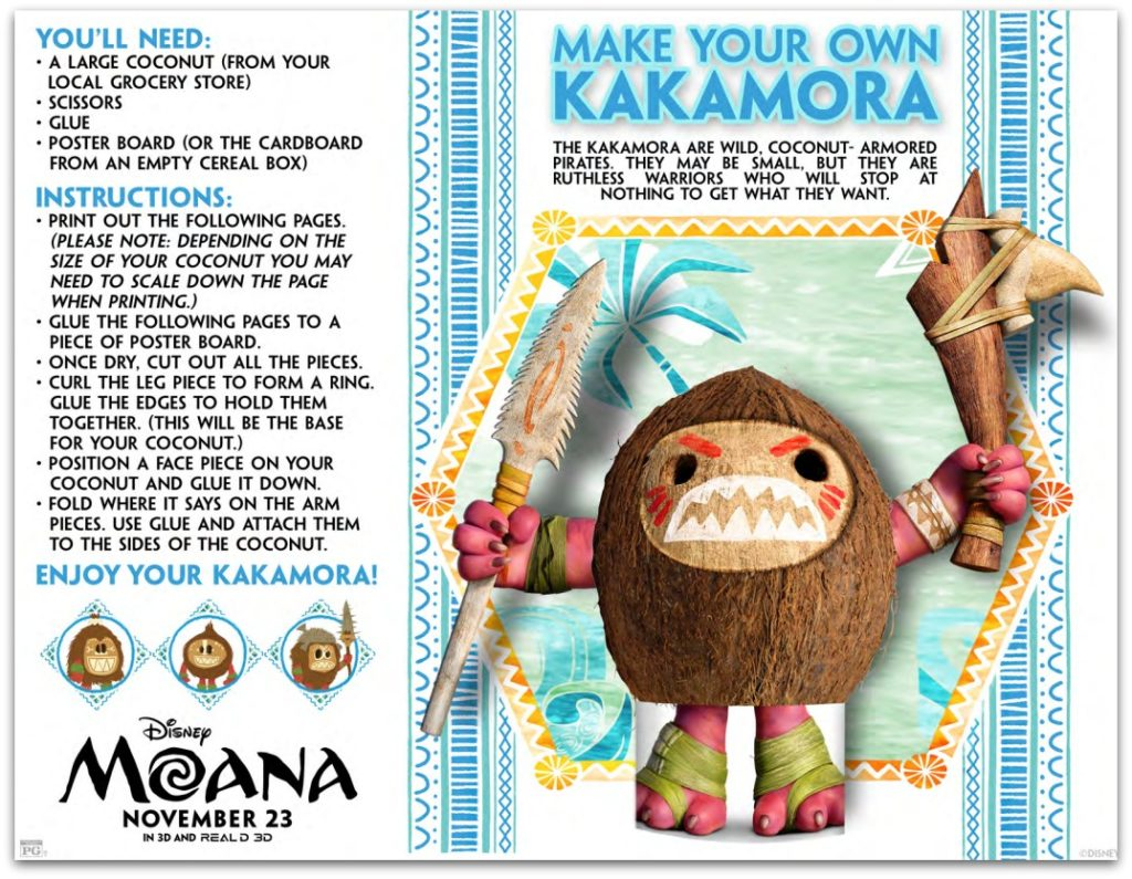 MOANA Activity Sheets And Crafts MoanaEvent Moana