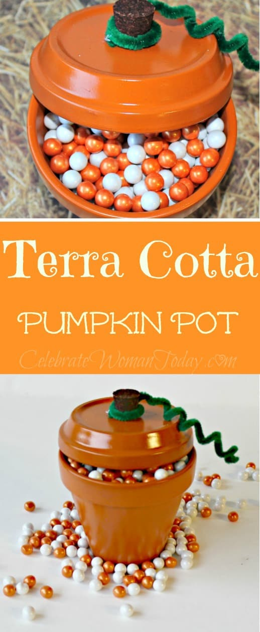 Terra Cotta Pumpkin Pot Craft, Home Decor Ideas