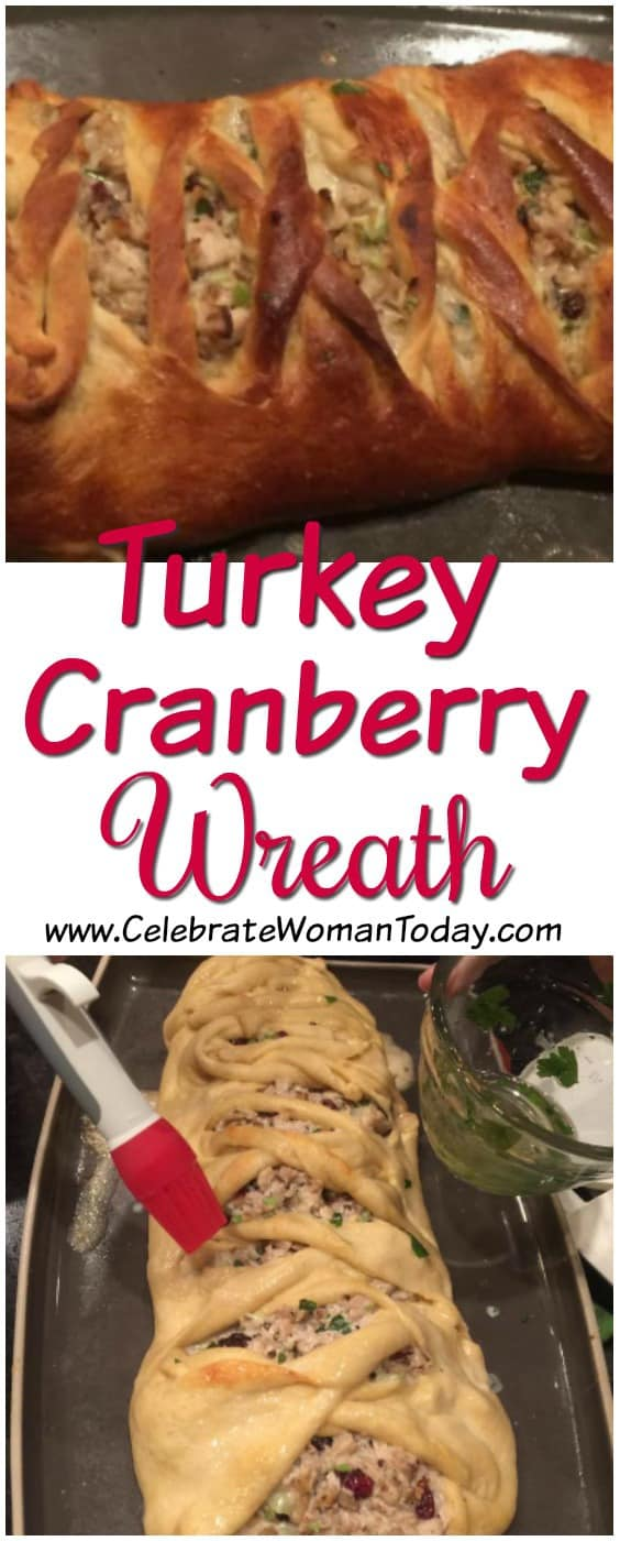 Turkey Cranberry Wreath Pie, Thanksgiving recipes