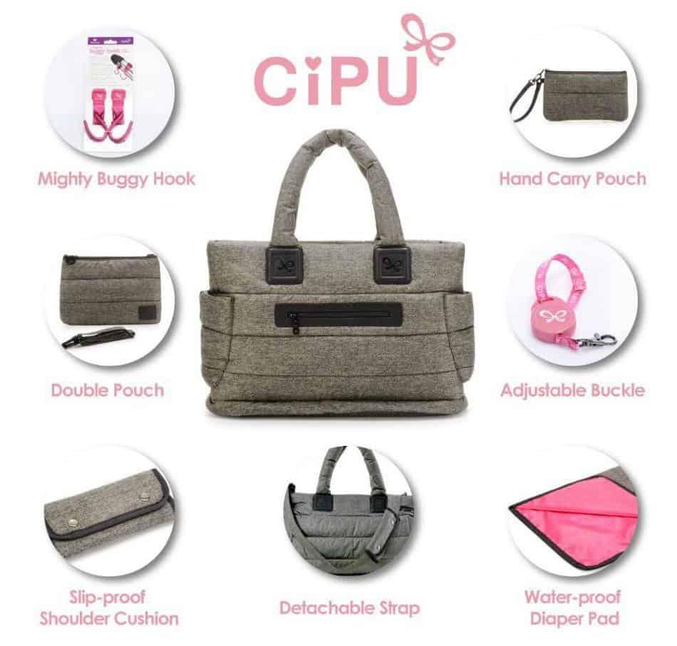 CiPU baby diaper bag, Designer diaper bags
