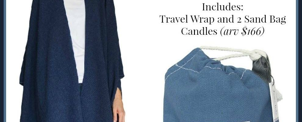 Mer-Sea Travel Wrap And Sand Bag Candles Giveaway
