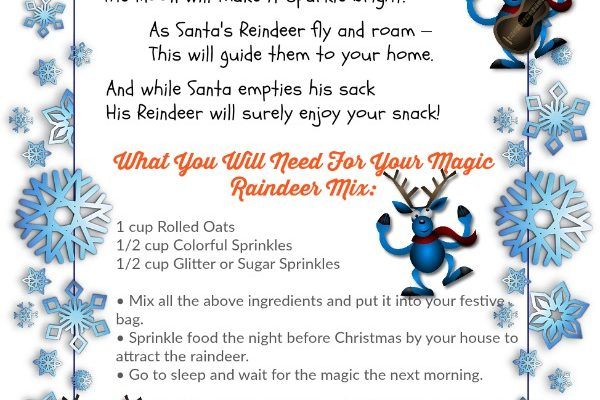 Download PRINTABLE – Magic Reindeer Food And A Poem