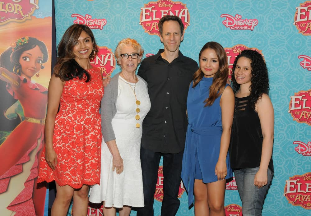 "ELENA OF AVALOR - June 11, 2016 -Cast, producers and guests attended a screening of Disney Channel's ""Elena of Avalor,"" introducing Disney's first princess inspired by diverse Latin cultures and folklore, at New York's AMC Empire 25 on July 11. The series premieres FRIDAY, JULY 22 (7:00 p.m., ET/PT) on Disney Channel. (ABC/Lorenzo Bevilaqua) SILVIA OLIVAS (STORY EDITOR), NANCY KANTER (EVP, ORIGINAL PROGRAMMING AND GENERAL MANAGER, DISNEY JUNIOR WORLDWIDE), CRAIG GERBER (CREATOR/EXECUTIVE PRODUCER), AIMEE CARRERO (VOICE OF ELENA), PRISCILLA RODRIGUEZ (SENIOR EDITOR, LATINA MAGAZINE)"