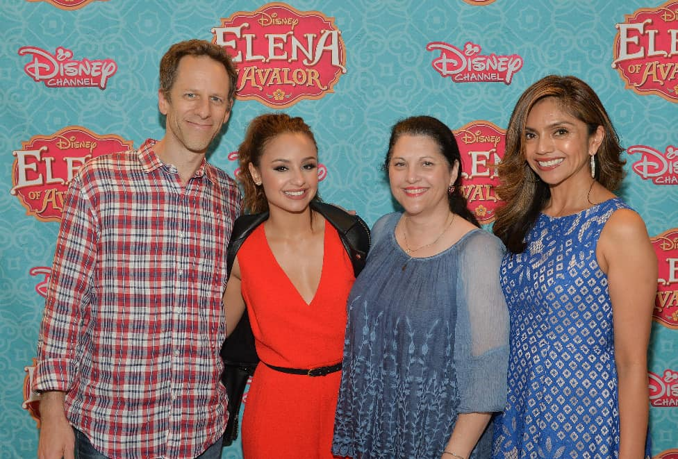 "ELENA OF AVALOR - Disney Channel and Amigos for Kids hosted a screening of the highly-anticipated animated TV series ""Elena of Avalor,"" introducing Disney's first princess inspired by diverse Latin cultures and folklore, at Miami's Regal South Beach Theatre on July 13. Actress Elizabeth Gutierrez co-hosted the event. The series premieres FRIDAY, JULY 22 (7:00 p.m., ET/PT) on Disney Channel. (Disney Channel/Rodrigo Varela) CRAIG GERBER (CREATOR/EXECUTIVE PRODUCER), AIMEE CARRERO, ROSA PLACENSIA (AMIGOS FOR KIDS), SILVIA OLIVAS (STORY EDITOR)"