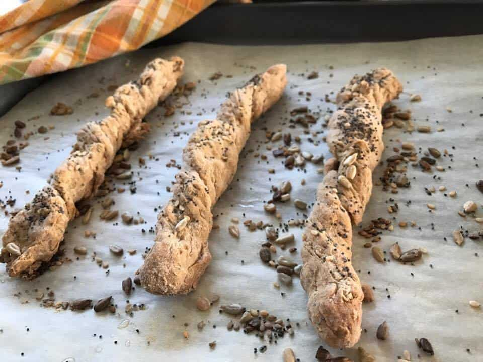 Triple-Seeded Breadsticks Recipe #RecipeIdeas