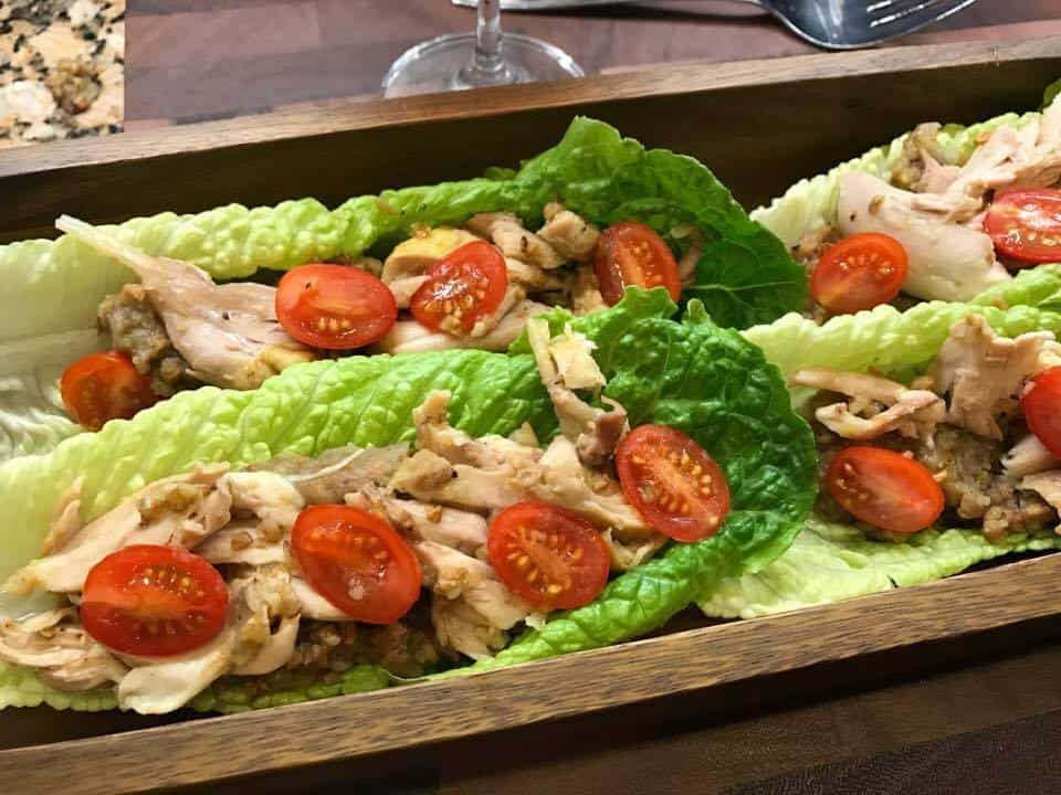 Chicken Lettuce Boat Dinner