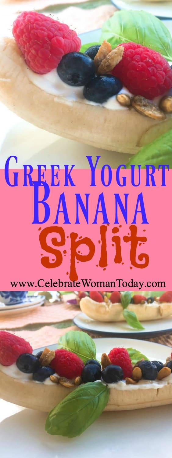 Greek Yogurt Banana Split recipe
