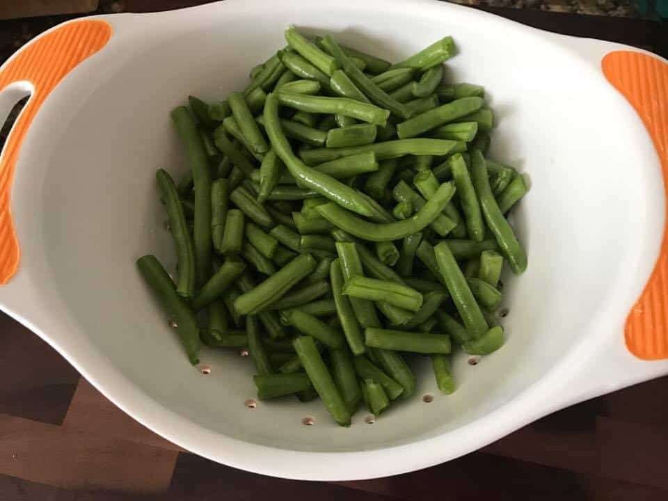 Green Beans with Corn, Pine Nuts