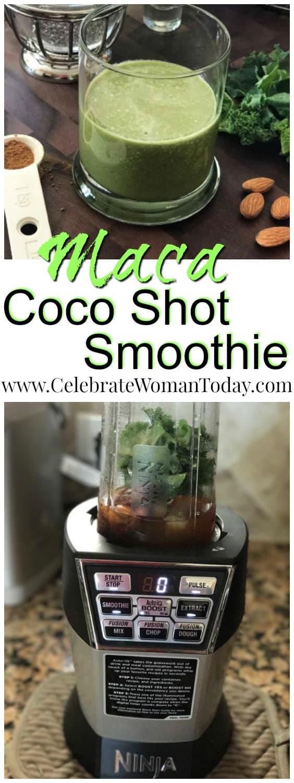 Maca Coco Shot Smoothie, Nutri Ninja recipe