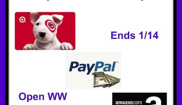 Who Would Like To Win $50 Amazon Or Target Or PayPal?