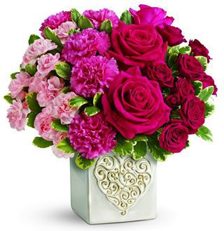 TELEFLORA bouquet swirling heart bouquet