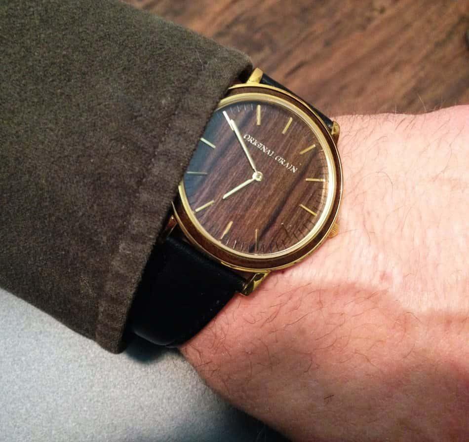 ORIGINAL GRAIN WATCH on wrist