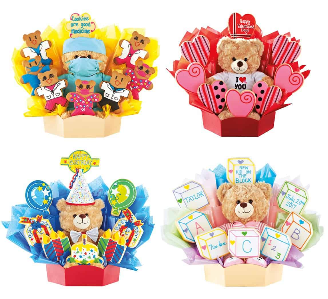 BuiildABear Cookie gift basket