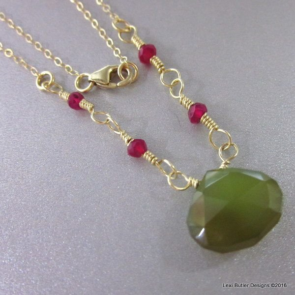 Chalcedony Necklace, Lexi Butler Designs