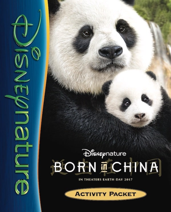 Disney Born in China Activity Packet