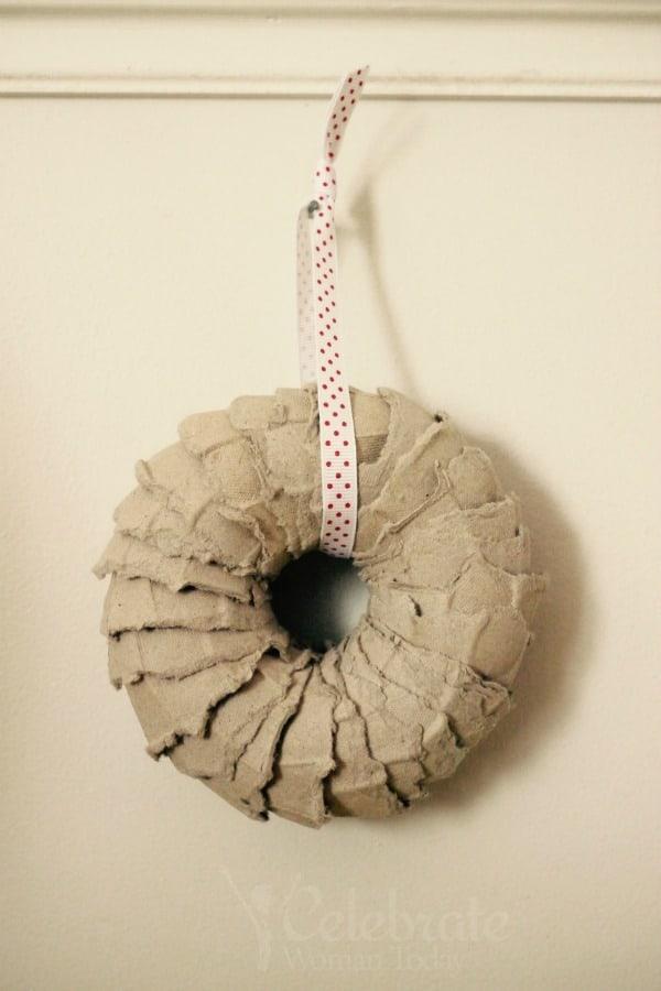 Egg Carton Wreath Craft Tutorial