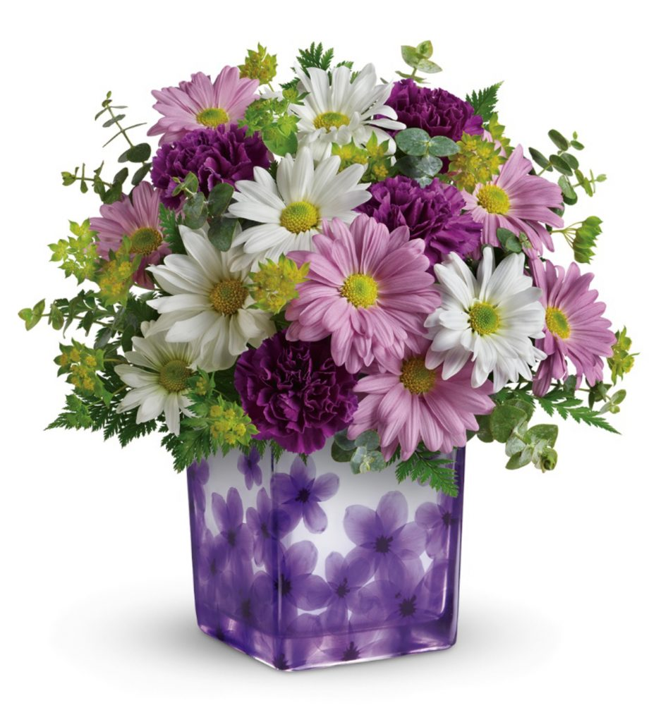 Teleflora Dancing Violets Bouquet, Mothers Day
