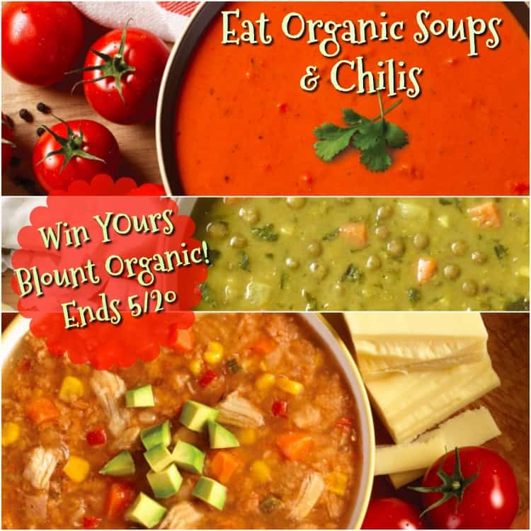 Enter the Blount Organic Soups & Chilis Giveaway. Ends 5/20