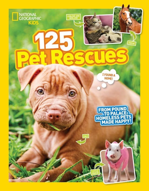 National Geographic 125 Pet Rescues Book, HOW-TO Teach Kids Animal Rights