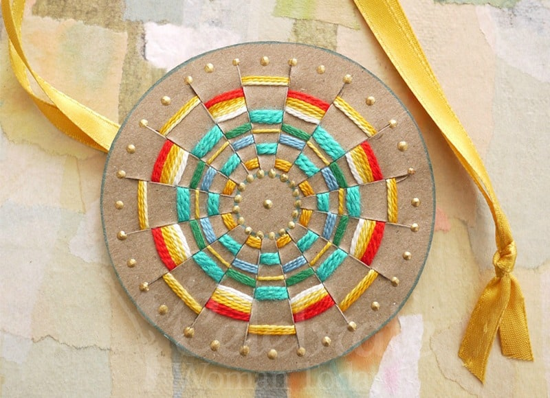 Woven Sun Pendant Craft Tutorial