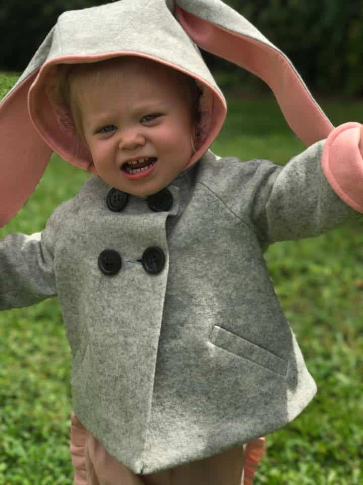 Little Goodall, Merino Wool Bunny Coat