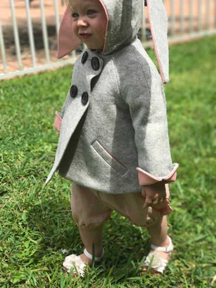 Little Goodall, Merino Wool Bunny Coat