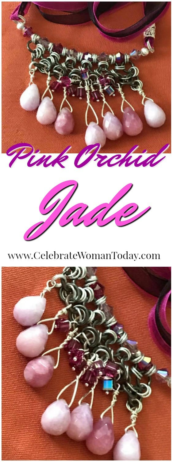 Lexi Butler Designs, Pink Orchid Jade Necklace