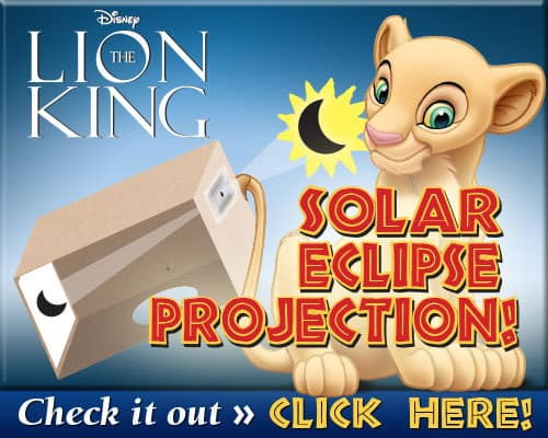 Solar Eclipse Projection Craft, Disney Printables, Lion King